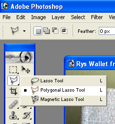 Polygonal lasso tool - cropping tool
